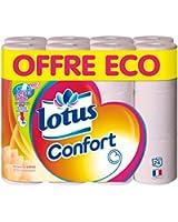 Lotus Confort 24 Rouleaux de Papier Hygiénique Aquatube Offre Economique