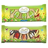 Lindt Easter Chocolate - Mini Frogs, Bugs and Bees 3.52 Oz (2 Pack Bundle)