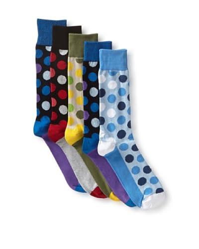 English Laundry Men's Colorful Dots - 5 Pack Socks