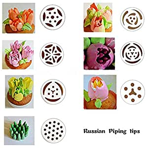 Amazon.com: TANGCHU Russian Piping Tips 7PCS/SET Stainless ...