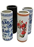 Elegant Fine Quality Home Décor Gift Idea - 24  Classic Chinese Porcelain Oriental Umbrella & Cane Stand - 4 Designs