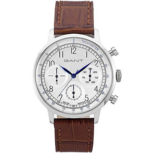 GANT TIME uomo-Orologio da polso al quarzo in pelle CALVERTON W71202