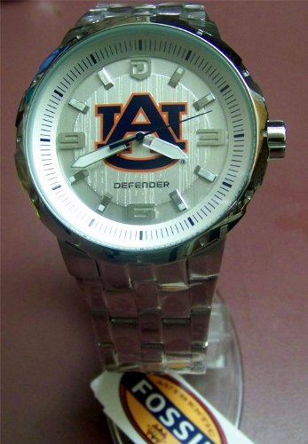 Auburn Tigers Fossil Silver Large Logo Watch Mens at Amazon.com