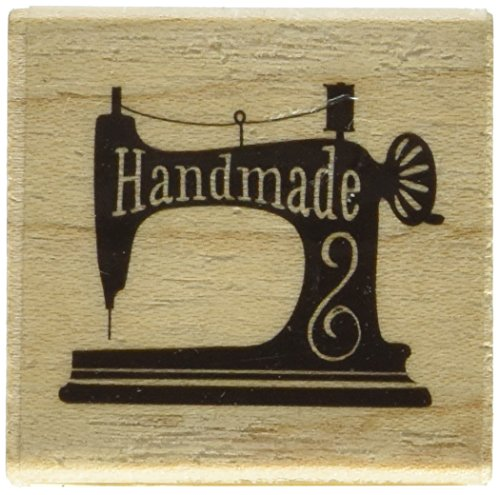"Inkadinkado Handmade Sewing Mounted Rubber Stamp, 1.5"" by 1.5"""