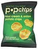 Popchips Sour Cream and Onion Potato Chips 23 g (Pack of 24)