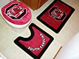 South Carolina Gamecocks Combo Shower Curtain & 3 Piece Bath Rug Set - SAVE ON BUNDLING! at Amazon.com
