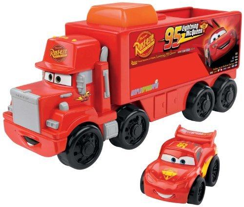Fisher-Price Little People Wheelies Disney/Pixar Cars Mack Hauler & Lightning Mcqueen Children, Kids, Game front-886687