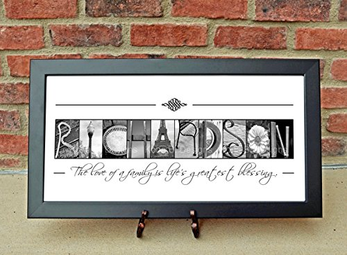 CUSTOM Family Name Sign, Alphabet Photography, Creative Letter Art, Custom Name Sign, Realtor's gift, Architectural Name Art (Family Name Frame compare prices)