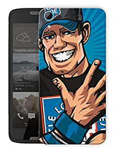 "Humor Gang Wrestler Cartoon Printed Designer Mobile Back Cover For ""HTC DESIRE 828"" (3D, Matte, Premium Quality Snap On Case)"