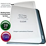 20 Mil Super Thick Clear Plastic Binding Covers Report Cover Sheets 8-1/2 x 11 Qty 25