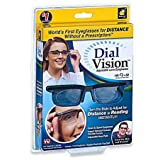 Dial Vision Unisex Glasses by BulbHead, Adjustable Lenses from -6D to +3D Power (Color: Black, Tamaño: Standard)