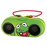 eKids Kermit the Frog Water Resistant Stereo Portable Sport Case for iPod Shuffle MP3 players with built in remote by iHome DK-M13