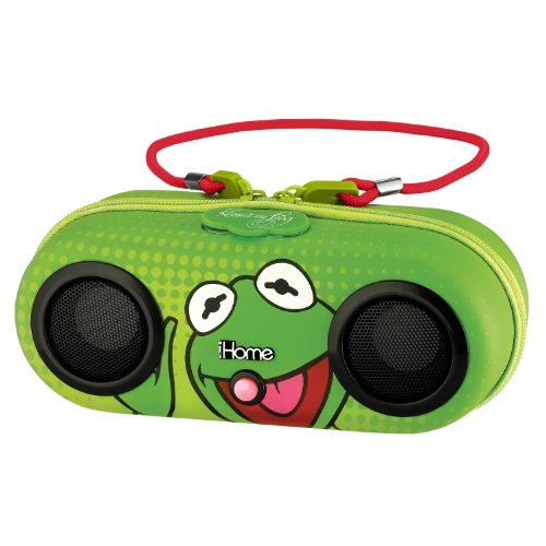 Ekids Kermit The Frog Water Resistant Stereo Portable Sport Case For Ipod, Shuffle, Mp3 Players With Built In Remote, By Ihome Dk-M13