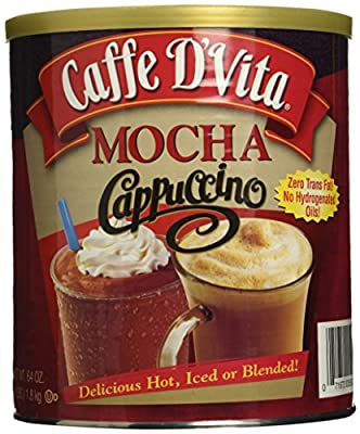 Caffe D'Vita Mocha Cappuccino Hot or Cold Cappuccino Mix 64 Oz from UCCI (European Credit and Commerce International)