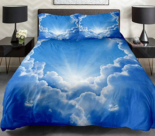 Anlye Luxury Bedding Sets The Gift Ideas 2 Sides Printing Could Quilt Duvet Cover Clouds Bed Linen With 2 Body Pillow Covers Full front-810952