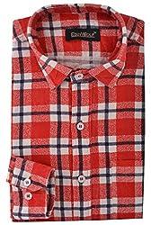 Edinwolf Men's Formal Shirt (EDFR709_40, Red, 40)