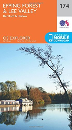 OS Explorer Map (174) Epping Forest & Lee Valley by Ordnance Survey (2015-09-16)