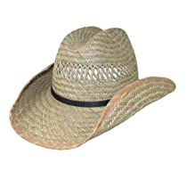 Dorfman Pacific Unisex Straw Western Cowboy Hat, Large/XL, Natural