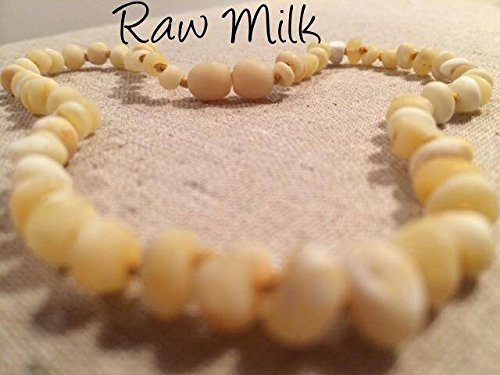 Baltic Amber Teething Necklace For Babies And Toddlers Raw Milk front-428522