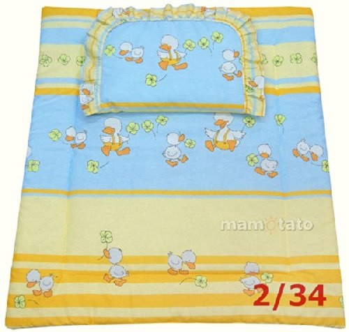 Ducks In Orange Bassinet / Stroller Bedding