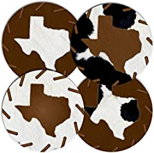 Rustic Texas Rubber Coaster Set