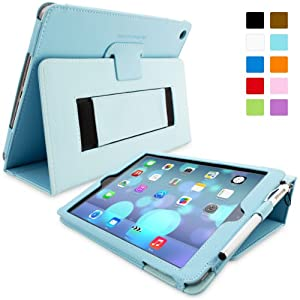 Snugg™ iPad Air (iPad 5) Case - Smart Cover with Flip Stand & Lifetime Guarantee (Baby Blue Leather) for Apple iPad Air (2013)
