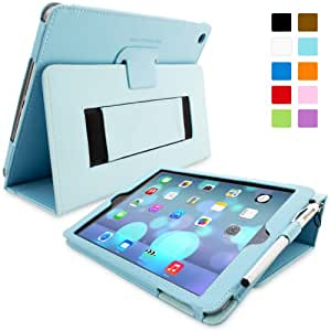 iPad Air (iPad 5) Case, Snugg™ - Smart Cover with Flip Stand & Lifetime Guarantee (Baby Blue Leather) for Apple iPad Air (2013)