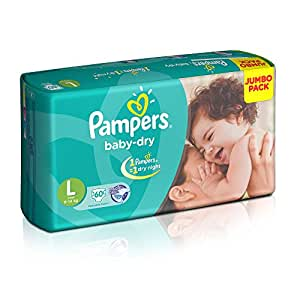 Pampers Baby Dry Large Size Diapers 60 Count Jumbo