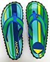 Crows Feet Turtle Bay Mens Flip Flop Sandal Blue