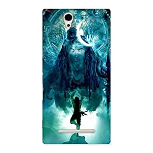 Cute Power Shiva Back Case Cover for Sony Xperia C3