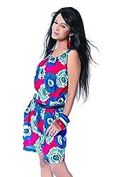 Garden Vareli Womens Crepe A-Line Dress (Gardenvareli Western Dress 1017_D-A _Red _Medium)