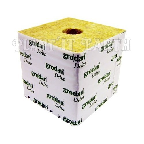 Grodan Rockwool - 6x6x6in. Cubes, 4 pack w/ holes