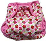 Kissa's Diaper Print Cover, Strawberries