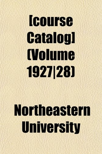 [course Catalog] (Volume 1927|28)