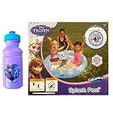Disney Frozen Splash Kiddie Pool With Frozen Plastic Water Bottle