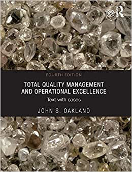 Total Quality Management And Operational Excellence: Text With Cases