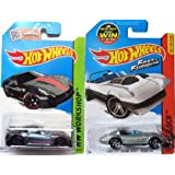 FAST & FURIOUS Hot Wheels Ferrari 599XX set HW Race # 179 Corvette Grand Sport Roadster Convertible in PROTECTIVE CASES (Color: silver, gray, Tamaño: 1:64)