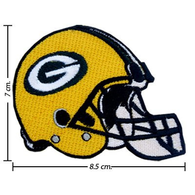 Green Bay Packers Helmet Style-1 Embroidered Iron On Patch at Amazon.com