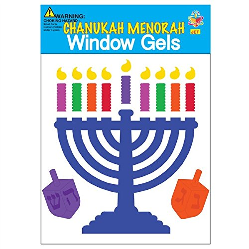 Hanukkah Menorah Window Gel Stickers - 1