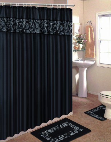 home-dynamix-he15sf-492-home-design-polyester-15-piece-bathroom-set-black-white
