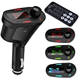 HDE Car Kit MP3 Player FM Transmitter w/ Remote & Charger - USB SD & 3.5mm jack for iPhone & iPod