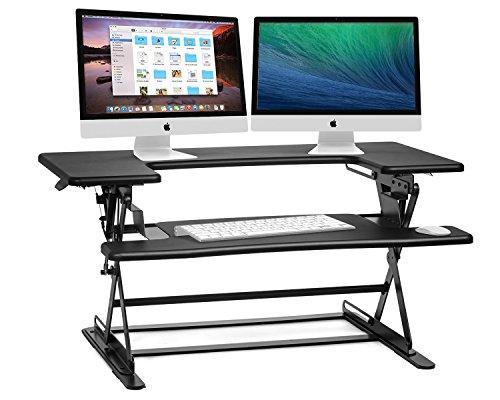 Halter ED-600 Preassembled Height Adjustable Desk Sit / Stand Elevating Desktop - Black Adjustable Workstation