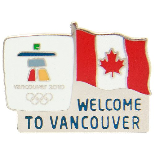 2010 Winter Olympics Welcome to Canada Collectible Pin