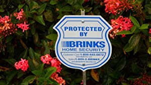 1 Brinks Home Security Alarm System Yard Sign & Brinks Decals