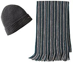 BOSS Hugo Boss Men\'s Fadon Hat and Scarf Set, Green, One Size