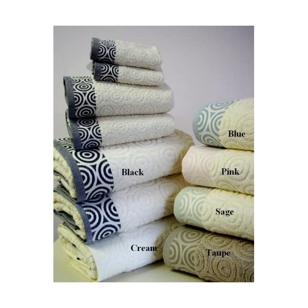 Dealtz 6pc Water Weaves Black Bath Towel Set 100% Egyptian Cotton by Dealtz at Sears.com