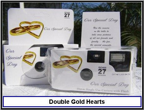 10 Pack Summer Rose Wedding Disposable 35mm Cameras in Gift Boxes with Matching Tents 27exp.