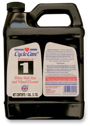 Cycle Care Formulas Formula 1 White Wall Tire and Wheel Cleaner - 1gal. 01128