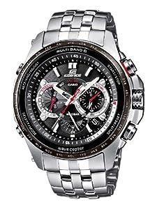 CASIO Edifice Solar EQW-M710DB-1A1ER - Reloj de caballero de cuarzo, correa de acero inoxidable color plata