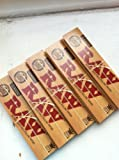 5 Pack of Raw Paper RAW King Size Slim Rolling Papers 5 Booklets = 160 Papers ITK_Trade